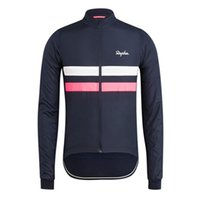 Yeni 2019 Rapha Bisiklet Jersey Ropa Ciclismo Hombre Erkekler Uzun Kollu MTB Döngüsü Bisiklet Maillot Dağ Giyim K072706