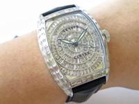 ABF الدار البيضاء 8880 فاخرة ووتش الماس كامل الرجال ووتش السويسري 2824 التلقائية الميكانيكية الفولاذ المقاوم للصدأ ساعة اليد كريستال الياقوت