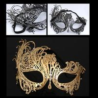 Femmes Masque de Fer Halloween métal diamant Phoenix demi-masque Parti Cosplay Masque Party Supplies la RRA2334