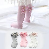 Newborn Baby girls socks Summer Spring Mesh socks kids bow k...