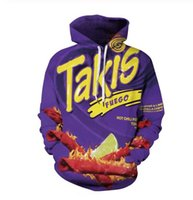 Hot Mode homme Pulls Harajuku Takis 3D HD Imprimer Fox Casual Sweats à capuche Sweats Couple Survêtements Hoodies Femmes LM033