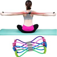 USA Stock Yoga Gum Fitness Resistance 8 Word Chest Expander ...