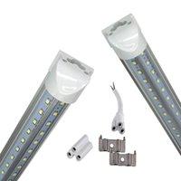 V-Şekilli 2ft 3ft 4ft 5ft 6ft 8ft Soğutucu Kapı LED Tüpler T8 Entegre LED Tüpler Çift Taraf LED Işıklar 85-265V