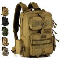 Mochila táctica del ejército 30L Mochila Militar de 14 pulgadas Laptop Rucksack Mochila al aire libre Camping Senderismo Bolsa de camuflaje Bolsa Tatica