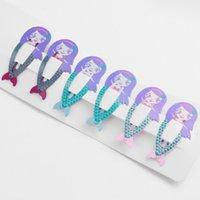 6 pezzi lotto dell'arcobaleno schioccano le clip di capelli della ragazza di stile 9 accessori per capelli Fumetto animale Frutta perni / capelli del metallo di colore barrettes BBJJ360 all'ingrosso