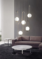 ما بعد الحداثة الإبداعية إيطاليا مصمم قلادة ضوء الفن لوفت غرفة الطعام مقهى شنقا أضواء شريط السرير أدى أضواء