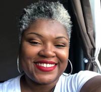Moda Cinzento de Prata Humano Cinzento Curly Curly Clipe em Afro Kinky Curly Cinza Cabelo Cabelo Extensão Cinza Cabelo Bolinhos