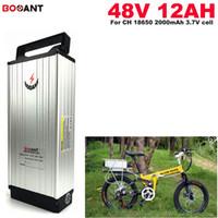batería de iones de litio de 48V 12AH para E-bici eléctrica de la bicicleta 13S 48V batería recargable 600W + envío libre del cargador 2A