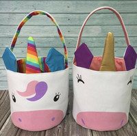 2 Colors Unicorn Easter Baskset Easter Unicorn Bags Rainbow ...