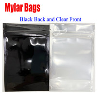 Multi function Black Clear Resealable Mylar Bag Food Packagi...