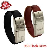 Изготовленный на заказ логотип USB флэш-накопитель 64gb кожаный металлический брелок Pendrive Creativo 32gb 16gb 8gb 4gb Usb2. 0 наручные часы ремешок USB-диск