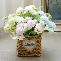 9 Têtes Hortensia Fleurs Artificielles Boule Bouquet Faux Fleurs Soie BRICOLAGE Home Decor Faux Fleurs Décoration De Mariage Table Bouquet