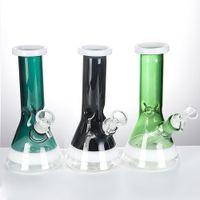 7,8-Zoll-Glaspfeife Bohrinsel mit Glas Downstem Bowl Dicken Glas Bongs 18mm Female Bubbler Wasser-Rohr-Banger Hanger