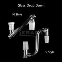 Rechte Parallelle Glas Drop Down Adapter 14mm 18mm Mannelijke Vrouwelijke Dropdown-adapters voor Quartz Banger Roken Water Pijp Olie DAB RIGS-bongen