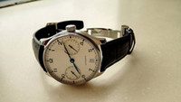 حار بيع ذكر ومشاهدة الرجل التلقائي ساعات رجالية حزام من الجلد ساعة اليد ووتش الميكانيكية 055
