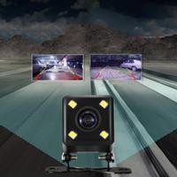 4 Lámparas LED Visión nocturna Cámara inverso HD CDD Vista posterior Vista posterior Camara Lente 2.1mm Jack con cable de 6 metros para coches DVR espejo grabadores