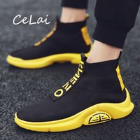 Chaussures de marche Sock maille respirante Chaussures Hommes Flats Mocassins Haut Casual Top Sneaker léger antidérapante Tenis Masculino NA17