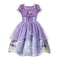 2020 Purple Girls Sofia Princess Costume Children 5 Layers F...