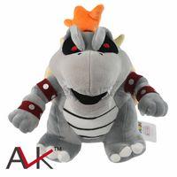 Bowser 플러시 장난감 MARO 그림 플러시 장난감 뼈 불의용 Koopa 박제 동물 부드러운 장난감 어린이 선물 장난감 DHL 무료 배송