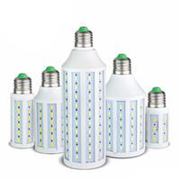 7W 12W 15W 25W 30W 40W 50W LED الذرة لمبة SMD5730 لا وميض 85V-265V أدى مصباح أضواء لضوء الإضاءة