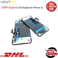 Schermo LCD Touch OEM originale per iPhone 11 LCD Touch Screen 3D Digitizer Assemblea completa Nero LCD di ricambio No Pixel Morto