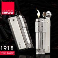Original IMCO Briquet coupe-vent en métal rétro Kérosène Flint Briquet en acier inoxydable pour hommes authentiques Gadgets