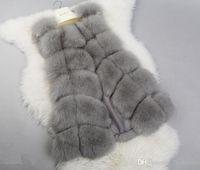 Kadın Kış Sahte Kürk jile Yelek Ceket Kaban Yelek Dış Giyim Gilet Kadınlar Gilets Dış Giyim Uzun İnce Yelek taklit kürk sıcak