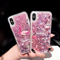 Para Iphone XS Max XR 7 Plus Funda Quicksand Fashion Bling TPU Star Glitter Nueva funda para galaxy Note 9 8 S10 S10 Lite Huawei P30