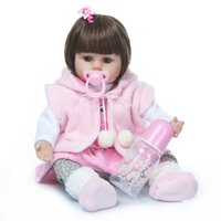 wholesale 47CM Silicone Reborn Baby Dolls Baby Alive New Rea...