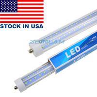 T8 8FT LED 튜브 라이트, 72W 단일 핀 FA8 램프, 6000K 차가운 흰색, 형광 전구 교체, 지우기 커버, 이중 종단 전원
