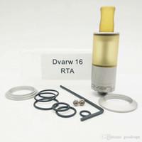 Mais novo Clone Dvarw MTL Estilo Mini 16mm RTA Rebuildable Tanque Atomizador 316 PEI de Aço Inoxidável Sistema de Fluxo de Ar Inferior Dual Post Construir baralho