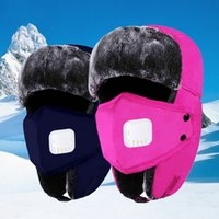 Winter thickened hair couple cotton cap warm earmuffs childr...
