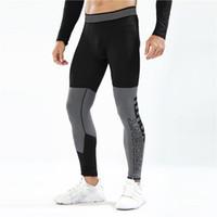Sıkıştırma Pantolon Koşu Tayt Erkekler Spor Tozluklar Spor Spor Uzun Pantolon Jimnastik Eğitimi Pantolon Sıska Tozluklar Hombre