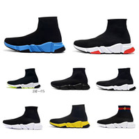 Balenciaga Sock shoes Luxury Brand zapatos casuales Speed ​​Trainer negro rojo triples calcetines negros calzados informales de la zapatilla de deporte 36-45