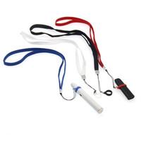 Ecig vape lanyard para coco myle mt phix vape pluma algodón con anillo de silicona negro rojo azul blanco logotipo personalizado de impresión
