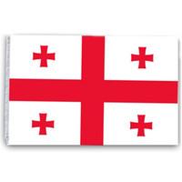 Грузия Флаг 90x150 см Дешевого Полиэстер Ткань Шелкография Печатного 3x5 Ft Страна Национальные Флаги с двумя втулками