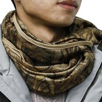 Camouflage Scarf Windproof Anti- Dust Mesh Scarves Hunting Sc...