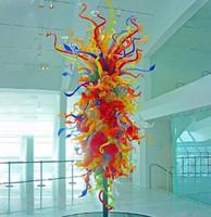 Sculptures de lampe de couleur plus lumineuse Décoration intérieure Tree Soufflée Élévanère Grand Lobby Hôtel Sculpture en verre de Murano