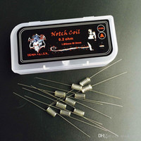 Newest Notch coil US imports of stainless steel 316L 0.2ohm no odor good taste fit DIY E-cigs RDA RTA Seiko DHL Free