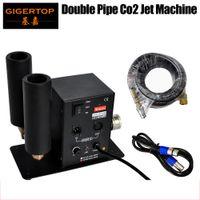 Tiptop مرحلة ضوء CO2 فوهة مزدوجة فوهة مع 6 متر خرطوم dmx 2ch co2 آلة led led مرحلة تأثير آلة 90V-240V DMX co2 dj بندقية