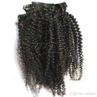 Peruvian Afro Kinky Curly 4A Clip In Hair Extension African ...