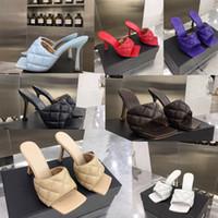 Karree Sandale PADDED SANDELHOLZE IN NAPPA DREAM Damen Modedesigner Schieber Frauen Luxuxhochzeits-Frau hohe Absätze Sandelholz Designer