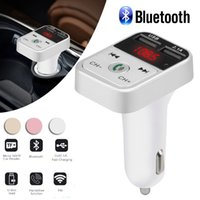 USB Car Handsfree sem fio Kit Bluetooth Transmissor FM LCD Car MP3 Player Carregador modulador FM Acessórios 1119