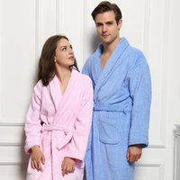 54d09ddedf ... Plus Size Kimono Robes Classic Lounge Sleepwear. US  24.68   Piece. New  Arrival. Winter Mens Bathrobe Cotton Thick Warm Towel Fleece Night Dressing  Gown ...