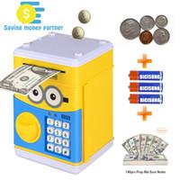 Лучший мультфильм Электронная копилка, банкомат пароль денег банковская монета монеты могут автоматически прокручивать бумажные деньги для детей рождественский подарок