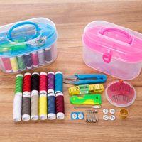 Multi-função Costura Kits DIY Costura Box Set para o acolchoado Mão Costura Linha do bordado Acessórios frete grátis