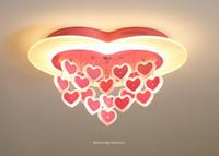 Modern basit LED pembe aşk tavan lambası Kız Yatak Odası Prenses Odası çocuk odası lamba karikatür yaratıcı romantik tavan lambası LLFA