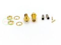 100pcs copper SMA Female plug Coaxial Connector for RG174 RG178 RG316 Crimp cable