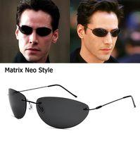 JackJad 2020 Cool Fashion The Matrix Neo estilo gafas de sol polarizadas ultraligero sin rebordes de los hombres de conducción diseño de marca de los vidrios de Sun Gafas de Sol