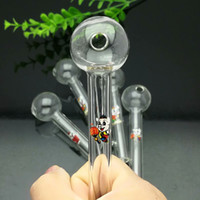 Colour cartoon logo mini- glass direct- fired pot Glass Bongs ...
